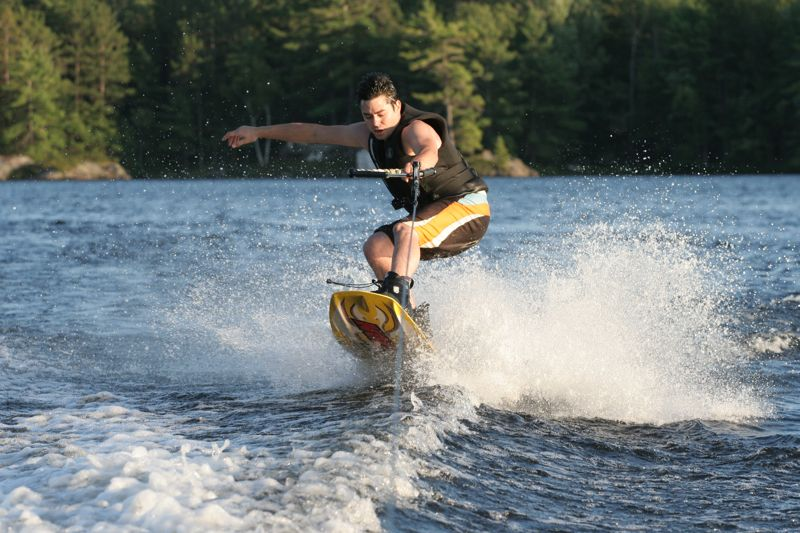 One-Handed Wakeboard