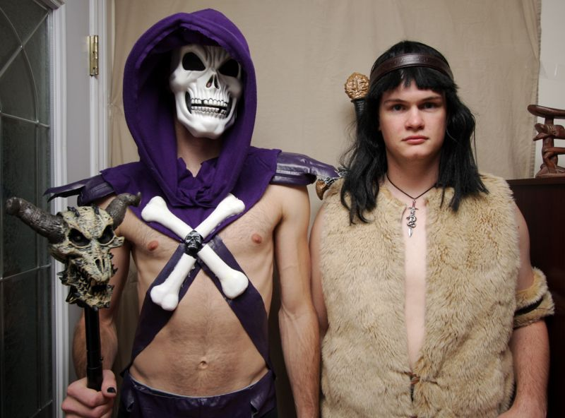 Conan and Skeletor