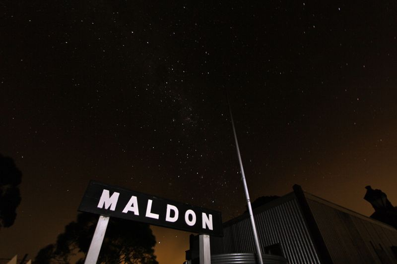 Maldon Station at Night